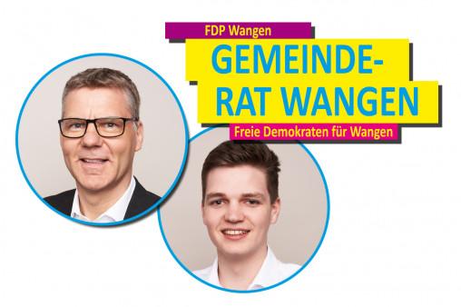 Die FDP Wangen ist stolz auf ihre Gemeinderäte und deren Arbeit.