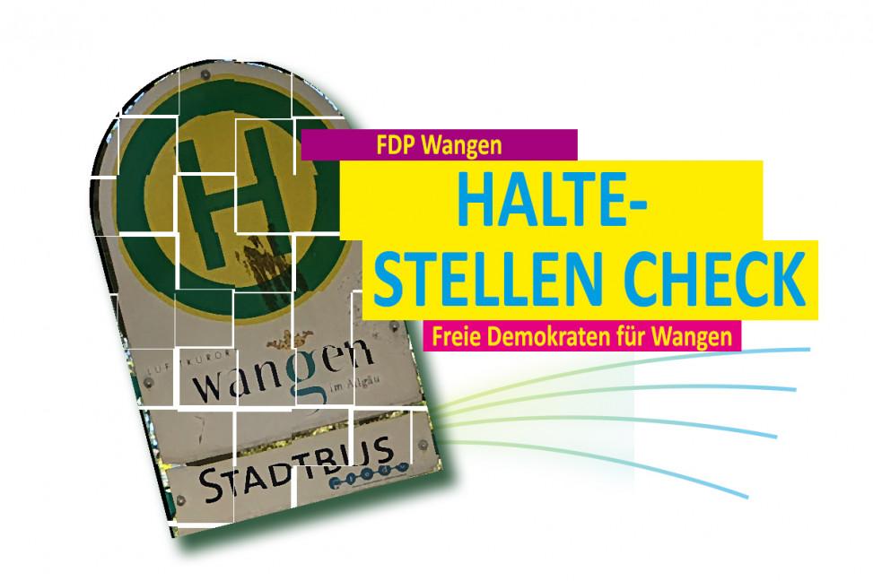FDP Württembergisches Allgäu: Logo des Haltestellencheck in Wangen im Allgäu