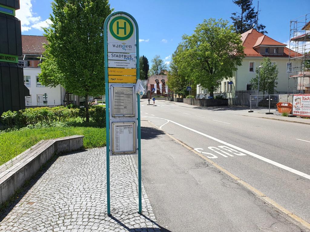 Bushaltestelle Wangen Landratsamt stadteinwärts (FDP Bushaltestellencheck 2021)