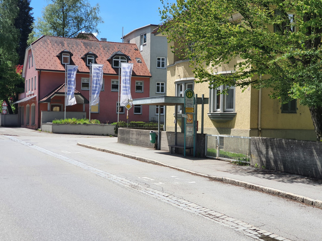 Bushaltestelle Wangen Landratsamt stadtauswärts (FDP Bushaltestellencheck 2021)
