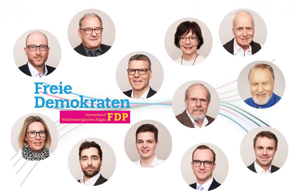 Gallerie der Kandidaten der FDP zur Gemeinderatswahl 2019 in Wangen